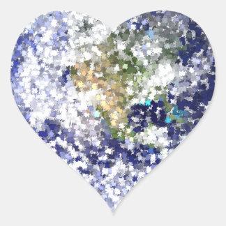 Sticker Cœur la terre de feuille
