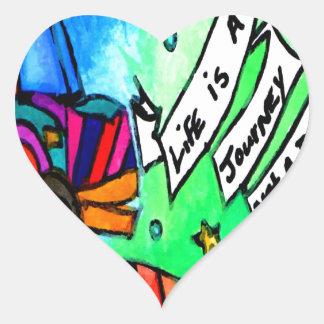 Sticker Cœur La vie est un voyage pas une destination