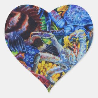 Sticker Cœur Lagune de homard