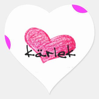 Sticker Cœur Langue suédoise de conception d'amour