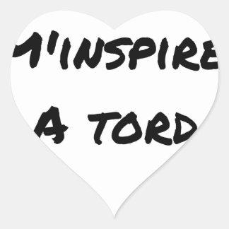 Sticker Cœur L'ASPIRATEUR M'INSPIRE À TORT - Jeux de mots