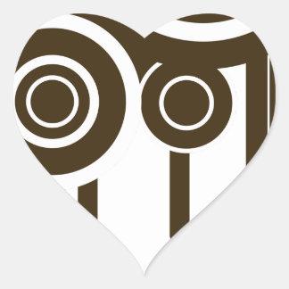 Sticker Cœur Le cercle vise l'égoutture