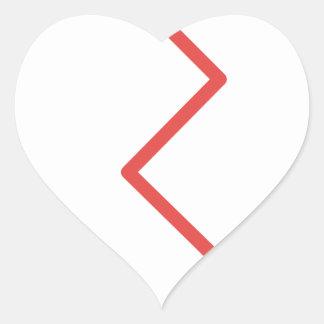 Sticker Cœur Le coeur brisé