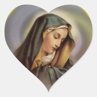 Sticker Cœur Le coeur de Vierge Marie béni