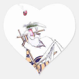 Sticker Cœur Le cricket historique de Yorkshire 'gardent le