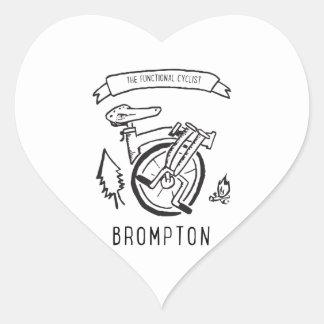 Sticker Cœur Le cycliste fonctionnel - vélo se pliant Brompton