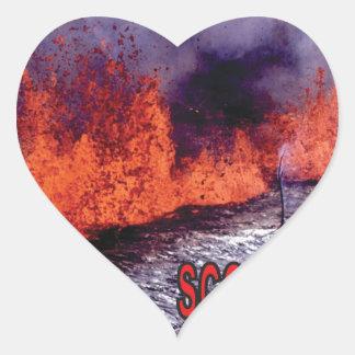 Sticker Cœur le feu roussi