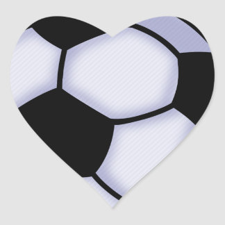 Sticker Cœur le football