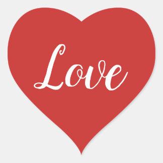 Sticker Cœur Le jour de valentine rouge d'amour de coeur