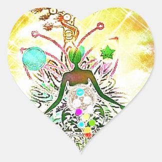 Sticker Cœur Le magicien