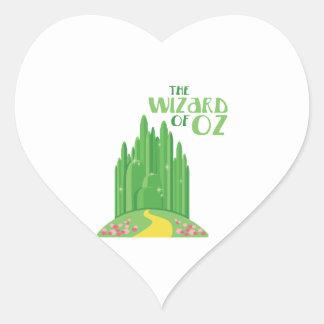 Sticker Cœur Le magicien d'Oz