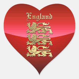 Sticker Cœur Le manteau de l'Angleterre des bras