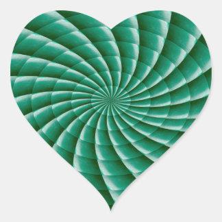 Sticker Cœur Le MODÈLE vert de Chakra de roue ajoutent la