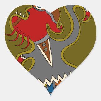 Sticker Cœur Le politicien
