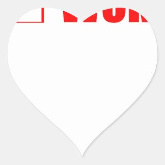 Sticker Cœur Le séjour a réveillé le courrier de contrôle