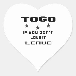 Sticker Cœur Le Togo si vous ne l'aimez pas, partent