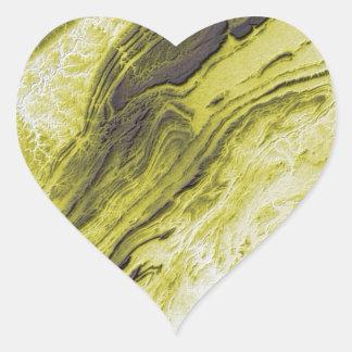 Sticker Cœur Les Appalaches dans le style de foudre de