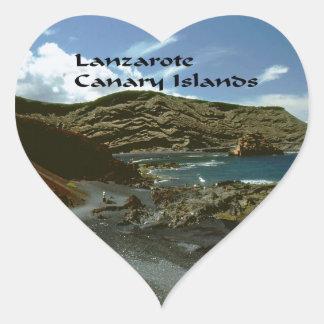 Sticker Cœur Les Îles Canaries de Lanzarote