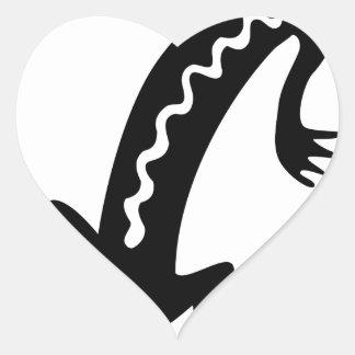 Sticker Cœur Lézard noble
