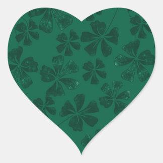 Sticker Cœur lflowers verts