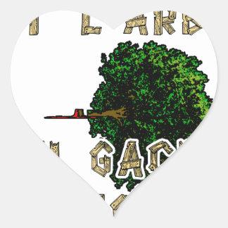 Sticker Cœur L'Homme est l'Arbre qui Gâche la Forêt