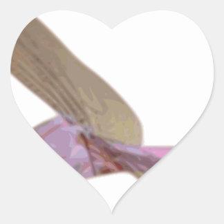Sticker Cœur Libellule
