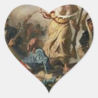 Sticker Cœur Liberté menant les personnes