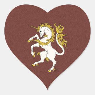 Sticker Cœur Licorne effrénée