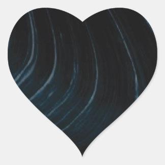 Sticker Cœur Ligne d'écoulement onduleuse
