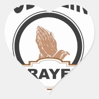 Sticker Cœur ligne prière de dieux