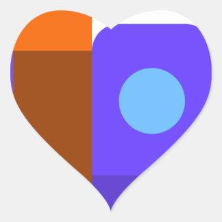 Sticker Cœur Livres et étagères