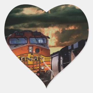 Sticker Cœur Locomotives puissantes prêtes à transporter