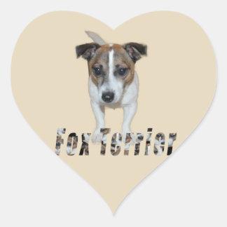 Sticker Cœur Logo de Fox Terrier et de Fox Terrier,