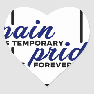 Sticker Cœur Longue de gain de douleur courte de fierté