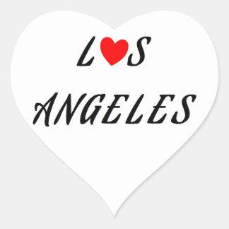 Sticker Cœur Los Angeles coeur rouge