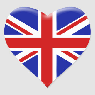 Sticker Cœur love drapeau Angleterre