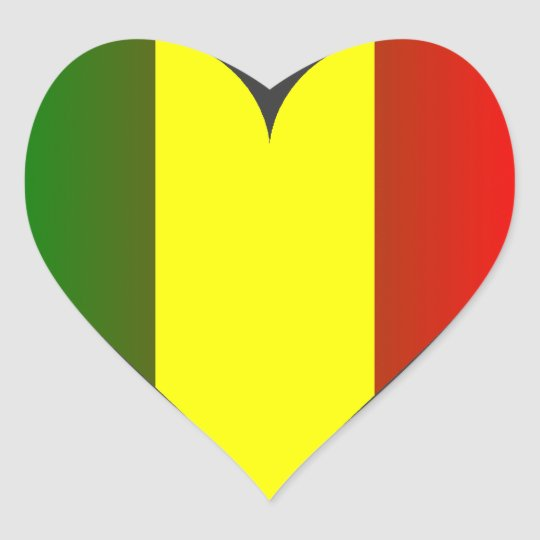 STICKER CŒUR LOVE JAH RASTA
