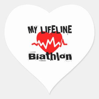 Sticker Cœur Ma ligne de vie biathlon folâtre des conceptions
