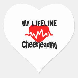 Sticker Cœur Ma ligne de vie conceptions Cheerleading de sports