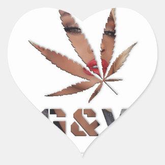 Sticker Cœur Madame et la feuille, par le #GrindAndVape