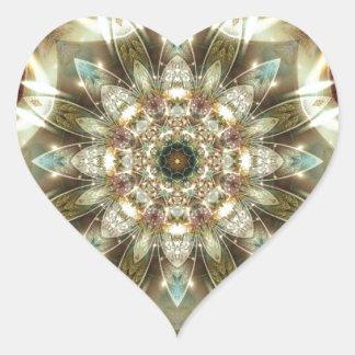Sticker Cœur Mandalas du coeur du changement 10, articles de