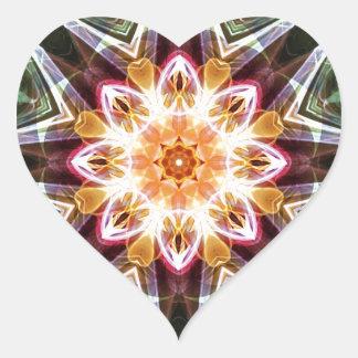 Sticker Cœur Mandalas du coeur du changement 5, articles de