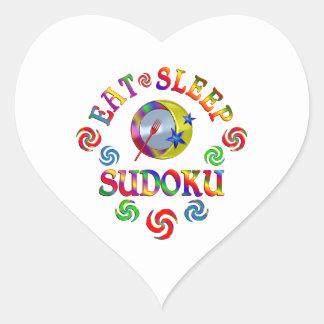 Sticker Cœur Mangez le sommeil Sudoku