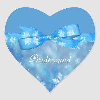 Sticker Cœur Mariage bleu glacial du pays des merveilles