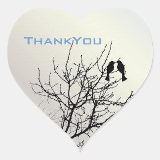 Sticker Cœur mariage campagnard rustique d'inséparables