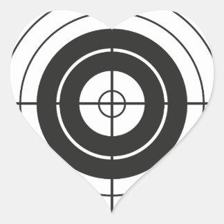 Sticker Cœur marque ronde de conception de cercle de cible