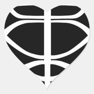 Sticker Cœur Masque d'hockey