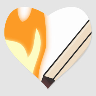 Sticker Cœur Match flamboyant