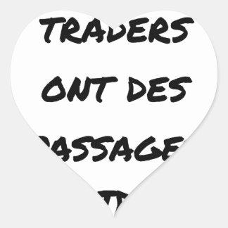 STICKER CŒUR MÊME LES TRADERS ONT DES PASSAGES AVIDES
