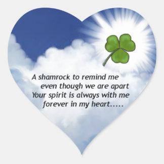 Sticker Cœur Mémorial de shamrock